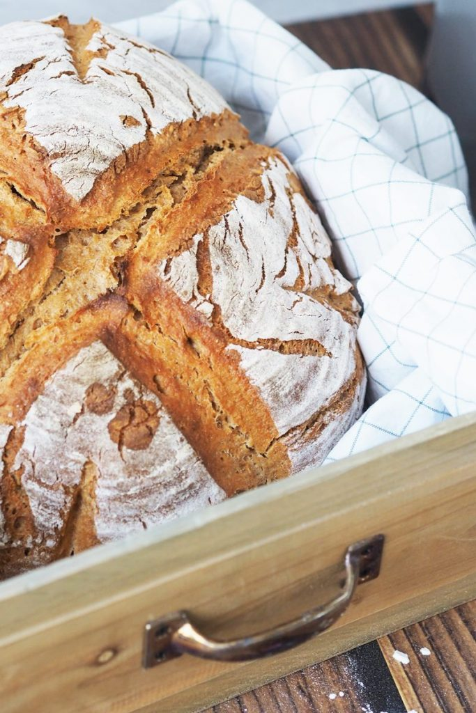 Brot, Kartoffelbrot, Rezept für Brot, hausgemacht, Sauerteig selbst ansetzen, Kenwood Küchenmaschine